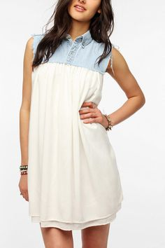 Urban Renewal Chambray Tent Dress  #UrbanOutfitters $69.00