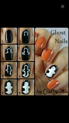 Imagem de nails, fantasma, e Halloween