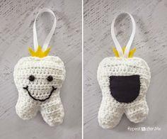 Crochet Tooth Fairy Pillow | AllFreeCrochet.com