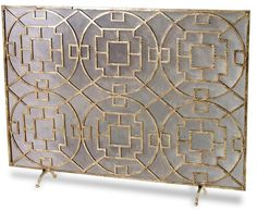 Wrought iron fireplace screen on Custom-Fireplace. Quality ...