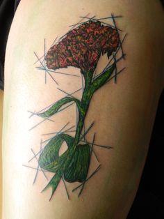 Hecho por Ben Fuentes Romero en Cali Tlahpali Tattoo Co Ciudad de México 2014