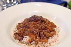 Persian Beef Stew with Peaches