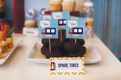 Hostess with the Mostess® - Go Baby Go: Candy Buffet idea: Spare tires