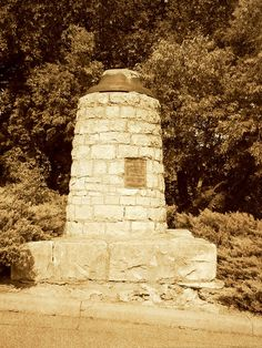 Bell rung to warn of Indian raids  -  Unfortunately, the bell is gone. Along the Santa Fe Trail in Council  Grove, Kansas