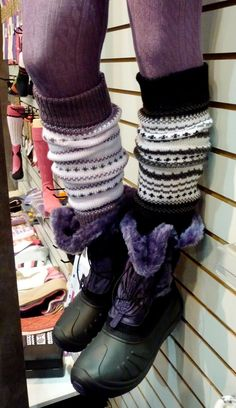 slouchy fair isle leg warmers, yes please....