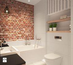 łazienka cegła projekty wnetrz - zdjęcie od MIKOŁAJSKAstudio
