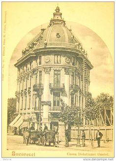 Bucuresti - Casa Dotatiunea Oastei - interbelica Old City, Old Pictures, Romania, Taj Mahal, Dan, Buildings, Memories, Country, Film