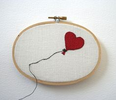 Saturday Stitches: I love the way this goes beyond the hoop.