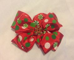 Gingerbread Man Christmas Hair Bow by mlmissal on Etsy, $6.00