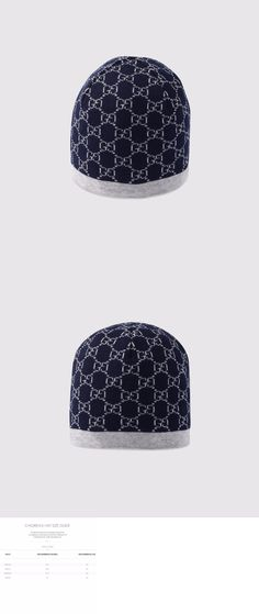 38cdf69a449 Hats 57884  Nwt New Gucci Kids Boys Navy Gray Wool Gg Logo Beanie Hat S M  Or L 418609 -  BUY IT NOW ONLY   79.99 on eBay!