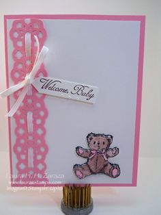 Welcome Baby in Pink by stampinggoose - Cards and Paper Crafts at Splitcoaststampers