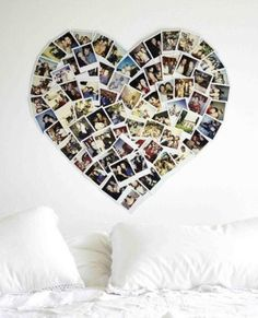 Social Media Gifts for Teens: Print a bunch of her Instagram photos to create this heart-shape wall art like Balogh Gabcsu did.