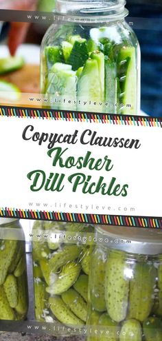 Copycat Claussen Kosher Dill Pickles – Oh, les rues de France! Canning Dill Pickles, Kosher Dill Pickles, Pickles Recipe, Dill Pickle Recipes, Claussen Pickles, Pickling Cucumbers, Pickled Cucumbers And Onions, Pickling Vegetables, Amigurumi