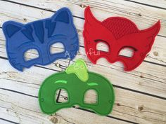 PJ Masks inspired masks by ajoyfulbow on Etsy