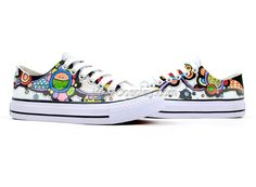 Color Story Series Hand Painted Low Top Canvas Sneakers, New Arrival Hand Drawing Shoes, Cosplay Hand Drawing Shoes