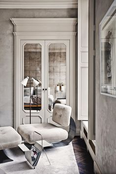Architect Joseph Dirand's beautifully minimal Paris apartment.