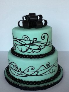 musical theme cake. thought this was really pretty. Maybe a different color! But I'm in love with this cake!:)