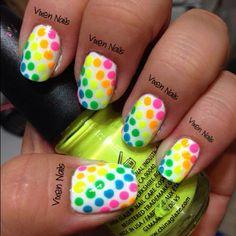 polka dot rainbow  Photo by vixen_nails • Instagram