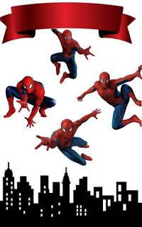- Oh My Fiesta! for Geeks Spiderman Cake Topper, Spaider Man, Superman Cakes, Spiderman Movie, Superhero Party, Birthday Fun, Mask For Kids, Birthday Party Decorations, Cake Toppers