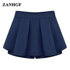Hot selling new women's 2017 summer European style candy-colored chiffon shorts culottes Size:S M L XL XXL free shipping #Affiliate