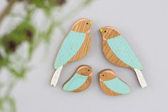 Wooden Wall birds Family sets por AnnaWiscombe en Etsy