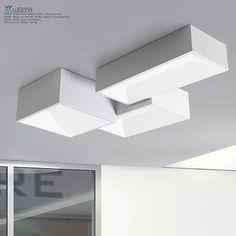 维玛大气创意客厅灯具长方形吸顶灯LED餐厅大厅灯现代简约卧室灯