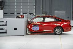 Hyundai Sonata earns top IIHS safety award. The vehicle performed well in front crash tests.
