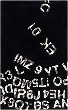Black and white typography rug from Surya's new Lies collection by @Mike Farrell