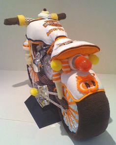 Do It Yourself Diaper Cake Dirt Bike Handmade Gift Ideas