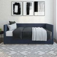 Jude Daybed & Reviews | Joss & Main Contemporary Daybeds, Full Daybed, Orange Bedding, Sofa, Couch, Joss And Main, All Modern, Kids Bedroom, Mattress