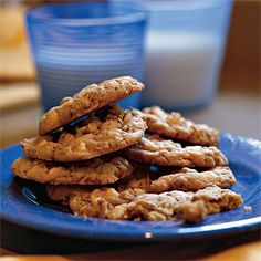 White Chocolate Chip-Oatmeal Cookies | Indulge in these white chocolate chip-oatmeal cookies for a fresh twist on the traditional chocolate chip cookie. Crunchy pecans balance out the white chocolate chips' sweetness.