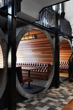 A Cool Hotel Bar Built Using Gigantic Concrete Tubes - DesignTAXI.com