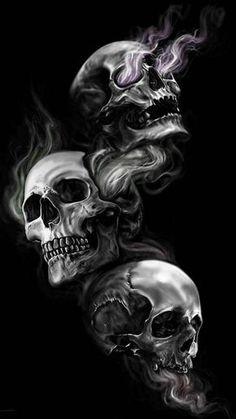 Download Skulls wallpaper by shianncain - 2d - Free on ZEDGE™ now. Browse millions of popular black Wallpapers and Ringtones on Zedge and personalize your phone to suit you. Browse our content now and free your phone Evil Skull Tattoo, Demon Tattoo, Skull Tattoo Design, Skull Design, Skull Tattoos, Body Art Tattoos, Tattoo Drawings, Tattoo Designs, Tattoo Ideas