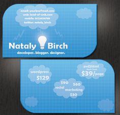 Cloud Business Card free psd template