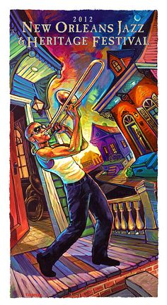 Trombone Shorty's Porch Song by Terrance Osborne | New Orleans dynamic duo. http://terranceosborne.com/shop/trombone-shortys-porch-song/