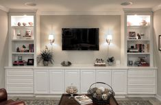 Entertainment wall design ideas wall unit ideas for living room entertainment center ideas and designs for your new home home wall unit ideas full wall Living Room Tv, Living Room Furniture, Wall Cabinets Living Room, Living Room No Fireplace, Living Room Wall Lighting, Living Room Ideas With Tv, Bedroom Wall Units, Wall Fireplaces, Built In Shelves Living Room