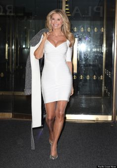 Christie Brinkley at age 60. Age should not people from dressing well and sexy.
