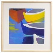 Art Gallery at Maine Cottage | Dinghy's Large