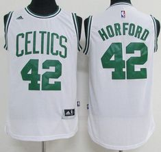 691c4765b Boston Celtics NBA All-Star Al Horford White Green Pro Basketball Jersey 42  Saint Patricks Day