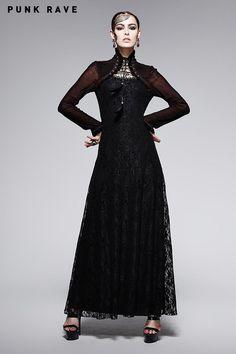 Q-243 Sexy Lady Fashion Dark Red Gothic Dress with Cappa