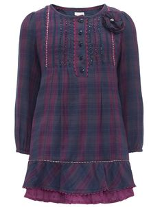 Checked Tunic | Navy | Monsoon
