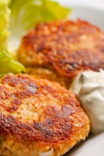 Busy Moms Recipes: Spicy Salmon Patties. 3 eggs, beaten  3 (6 oz.) cans pink salmon, boneless and skinless (drained) 1 cup Italian seasoned bread crumbs 1/2 tsp. seasoned salt 1 tsp. Cajun seasoning 1/4 cup finely minced onion (or 1 tbsp. dried minced onion) Optional: dash of Cayenne pepper