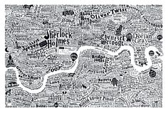 Anna Burles - Central London Map London England, England Uk, London Map, British Literature, Virginia Woolf, Gold Print, London Calling, Limited Edition Prints, Printmaking
