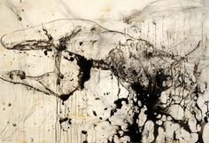 Craig Ruddy, Transformation, plaster and acrylic on canvas and Ink on glass