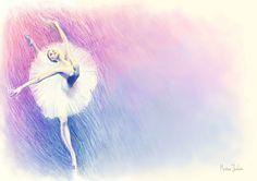 Bailarina, ilustracion metodo by ~zetsubou-akane on deviantART
