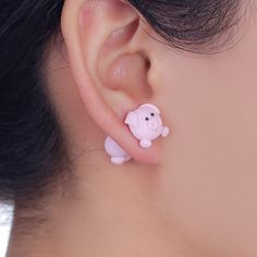 Cheap animal earrings for women, Buy Quality animal earrings directly from China fashion stud earrings Suppliers: W-AOE New Design Handmade Lovely Pig Stud Earring Fashion Jewelry Polymer Clay Cartoon Animal Earrings For Women Gift Animal Earrings, Flower Earrings, Women's Earrings, Fashion Jewelry Necklaces, Fashion Earrings, Girls Jewelry, Trendy Jewelry, Present For Girlfriend, Tout Rose
