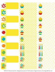 Happy Birthday Address Labels. Free download.