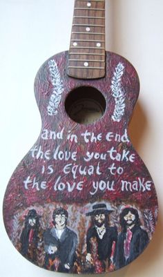 "Painted Ukulele - ""The End"" by Elizabeth Gaylord"