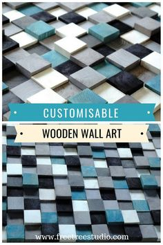 Modern Wood Wall Art Home Decoration, Mosaic Wall Hanging, Rustic Wood, Wall Hanging Decor, Wall Art with Assorted Color Shades Wooden Wall Design, Wooden Wall Decor, Wooden Wall Art, Mosaic Wall Art, 3d Wall Art, Organic Oils, Tree Rings, Wood Panel Walls, Do It Yourself Home