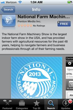 2013 National #Farm Machinery Show Free App #NFMS